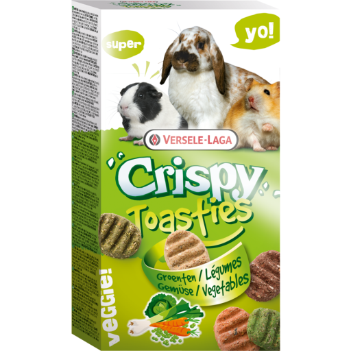 Crispy Snack Toasties Vegetables 150g Versele Laga