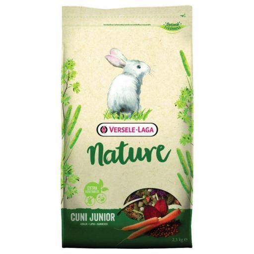 Cuni Junior Nature 2,3kg Versele Laga para conejos
