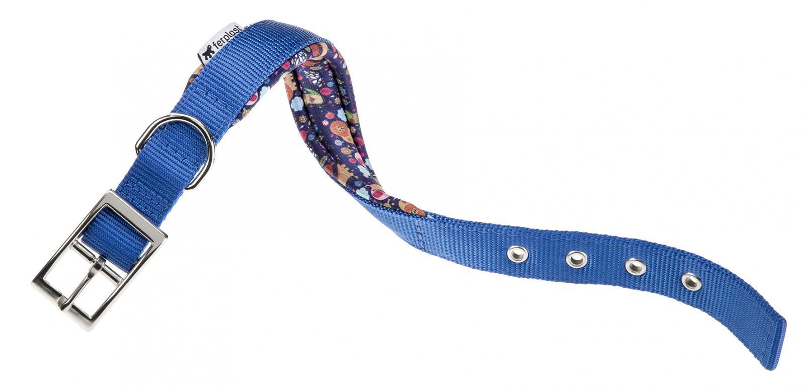Collar Daytona Azul Con Dibujo Interior, Ferplast