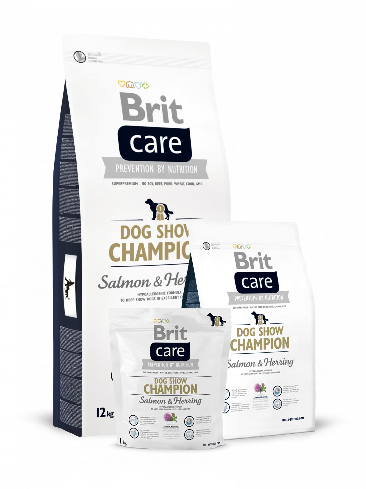 Pienso para perro adulto de salmón+arenque Dog Show Champion,Brit Care