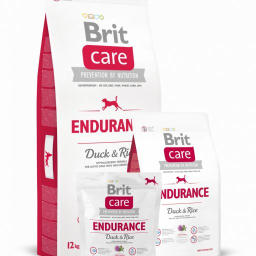 Pienso para perro adulto de pato+arroz Endurance,Brit Care