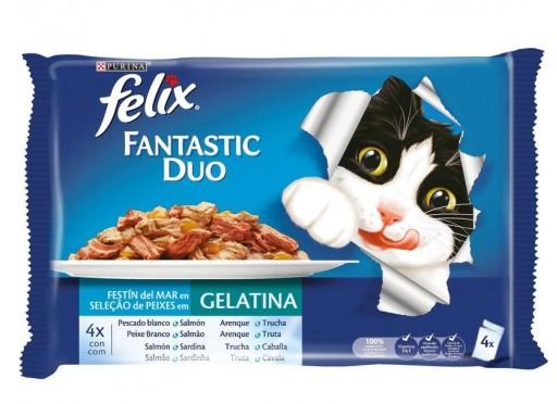 FELIX FANTASTIC Duo Delicious Fish (4x100g)