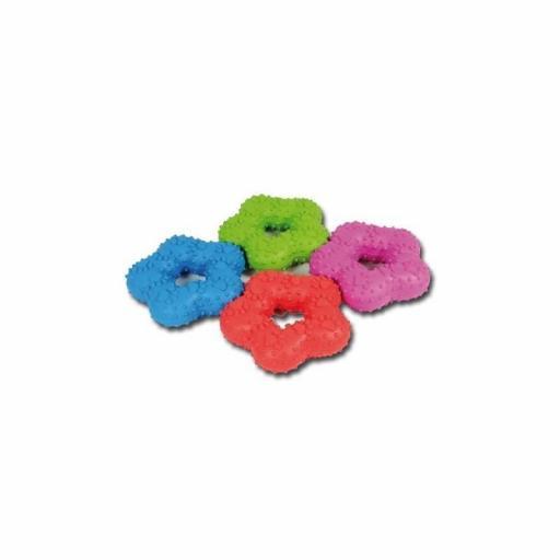 Flor de goma con huellas 10 cm, Nayeco