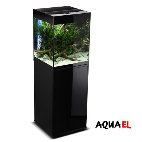 Acuario Aquael Glossy Negro Cube 50 - 135 litros