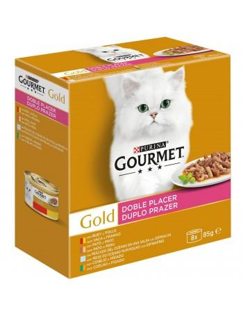 GOURMET GOLD Doble Placer Surtido (8x85g)