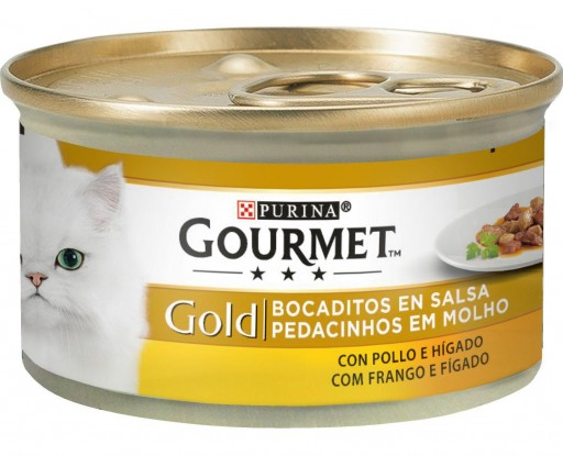GOURMET GOLD Bocaditos en Salsa con Pollo/Higado