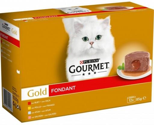 GOURMET GOLD Fondant Pollo,Buey,Atun,Salmon (12x85gr) NUEVO