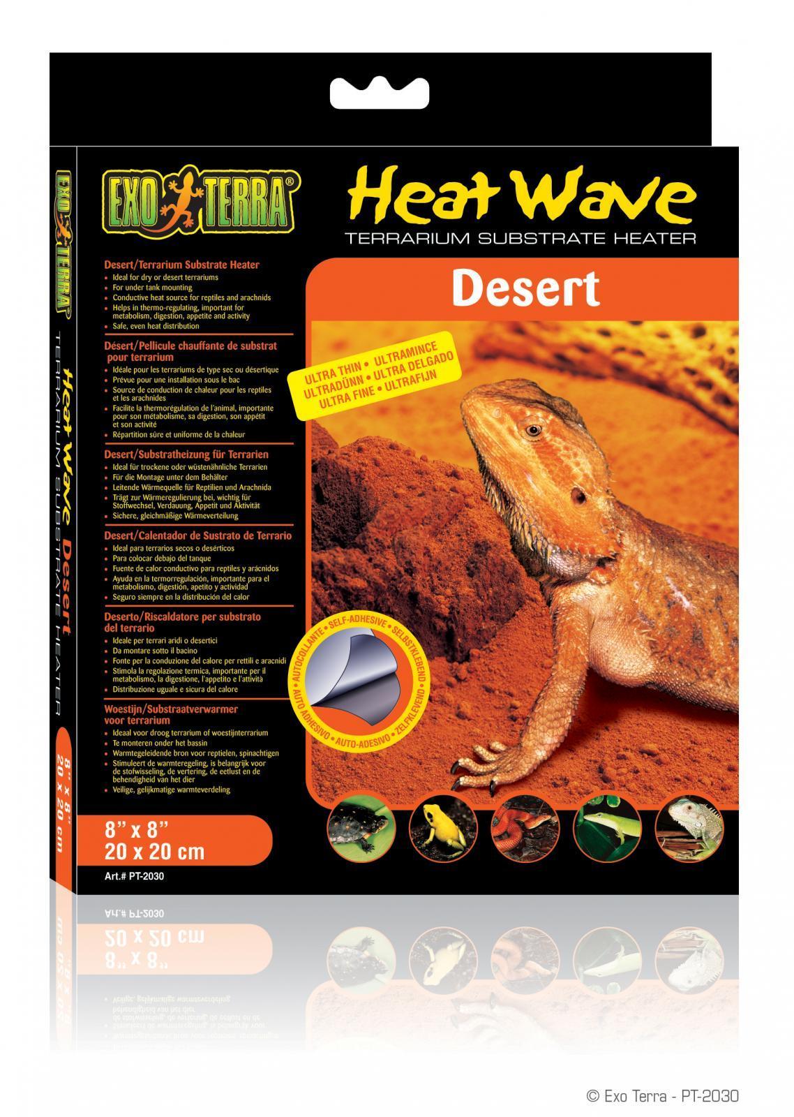 Heat Wave Desert, Manta Térmica Para Terrarios Deserticos, Exo Terra