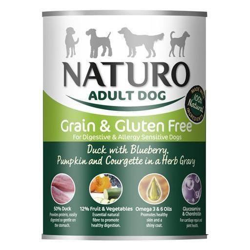 Lata para perro de pato+vegetales, Naturo