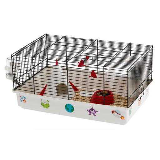 Jaula Hamster Criceti 9 Espacio Negra, Ferplast [0]