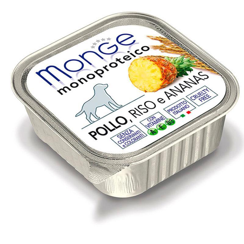 Paté Monge Húmedo Pollo, Arroz y Piña