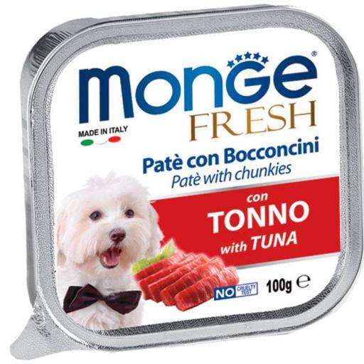 Paté Monge Húmedo Fresh Trozos de Atún