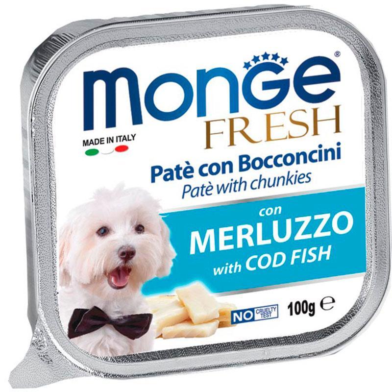 Paté Monge Húmedo Fresh Trozos de Merluza