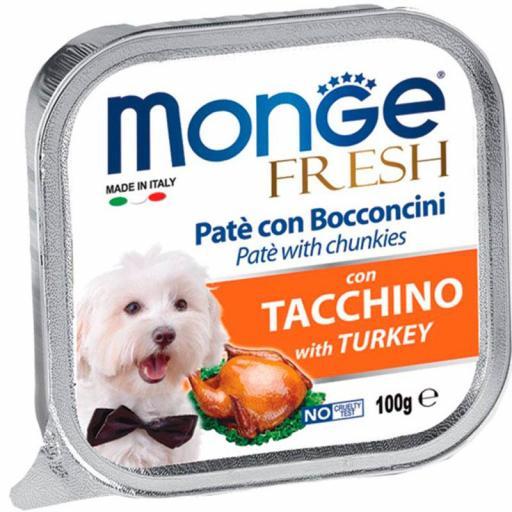 Paté Monge Húmedo Fresh Trozos de Pavo