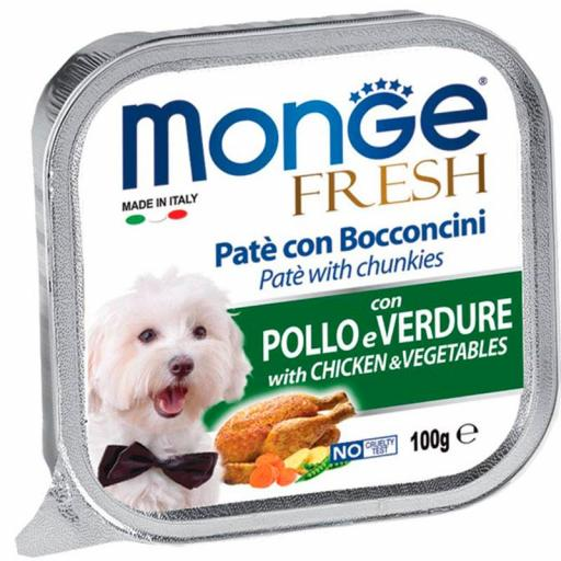 Paté Monge Húmedo Fresh Trozos de Pollo y Verduras