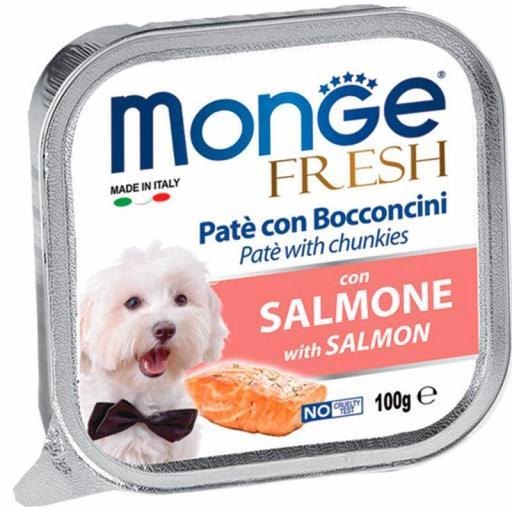 Paté Monge Húmedo Fresh Trozos de Salmón