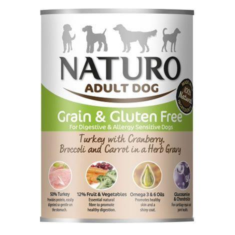 Lata para perro de pavo+vegetales Naturo