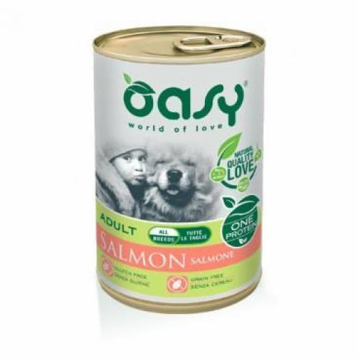 Lata para perro de salmón, Oasy