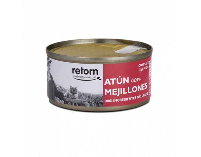 Lata gato atún+mejillones Retorn