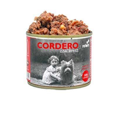 Lata para perro de cordero+arroz, Retorn