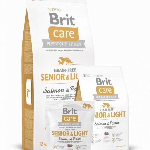 Brit Care Senior&Light pienso de salmón y patata para perros mayores