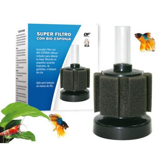 Super Filtro Con Bio-Esponja 100L
