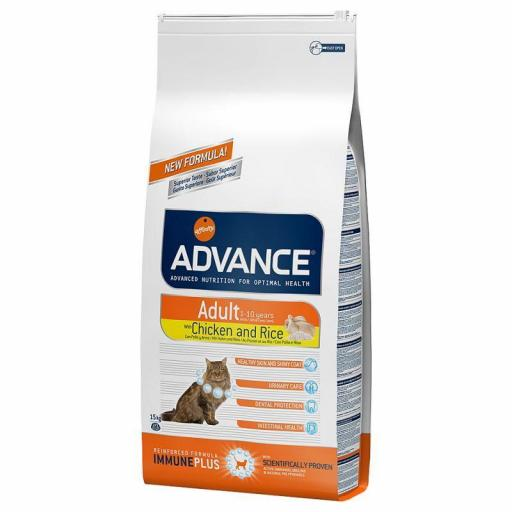Advance Adult Gato pollo con arroz