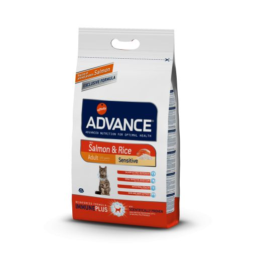 Advance Adult Gato salmón y arroz