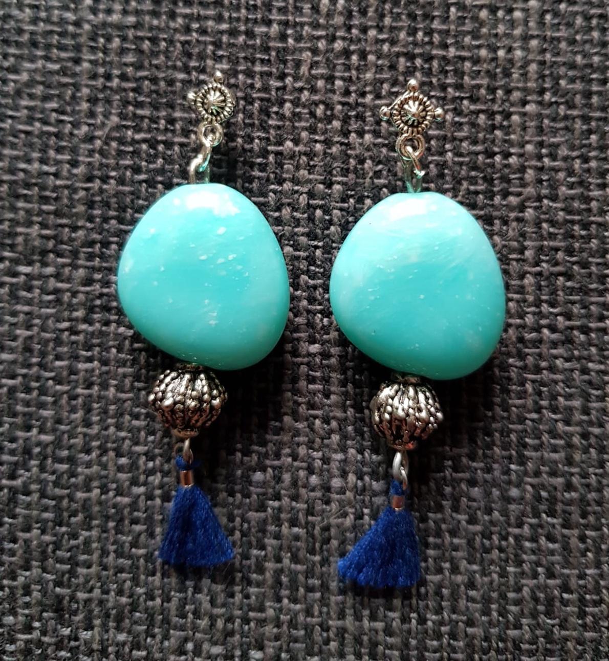 Pendientes color turquesa