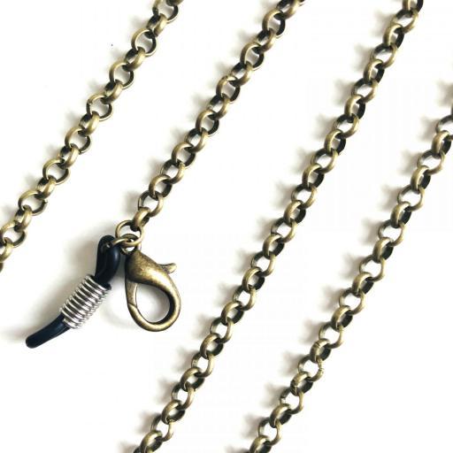 Cuelga gafas y mascarilla cadena color oro viejo [3]