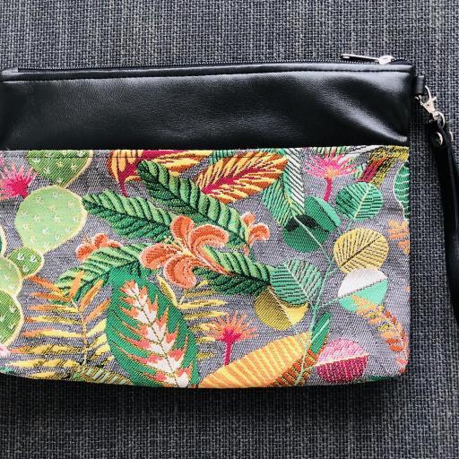 Bolso de mano o bandolera tropical verde con tucán [1]