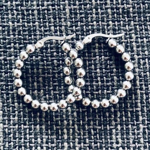 Aros de bolas plateadas 22 mm