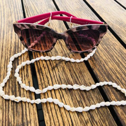 Cordón para gafas con caracolas color crudo [3]