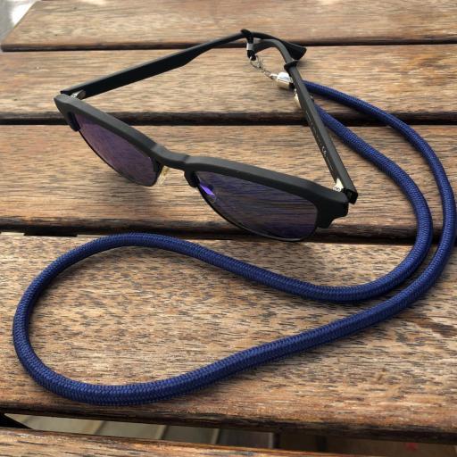 Cordón cuelga mascarillas / gafas color azul marino [2]