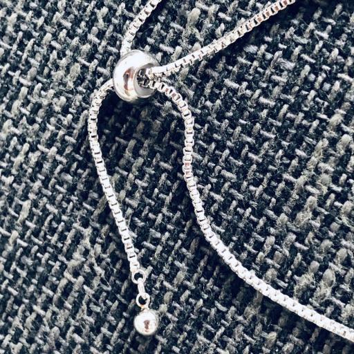 Pulsera  candado de acero y cristal strass  [2]