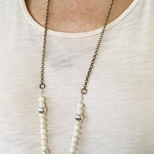 Collar de jade  crudo y libélula plateada [1]