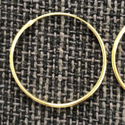 Aros de plata con baño de oro 30 mm [2]