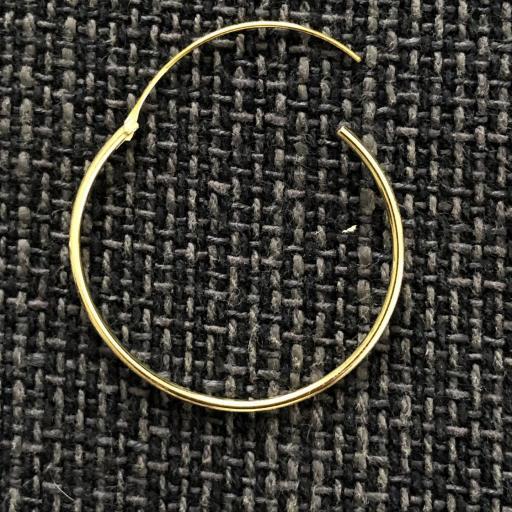 Aros de plata con baño de oro 30 mm [1]