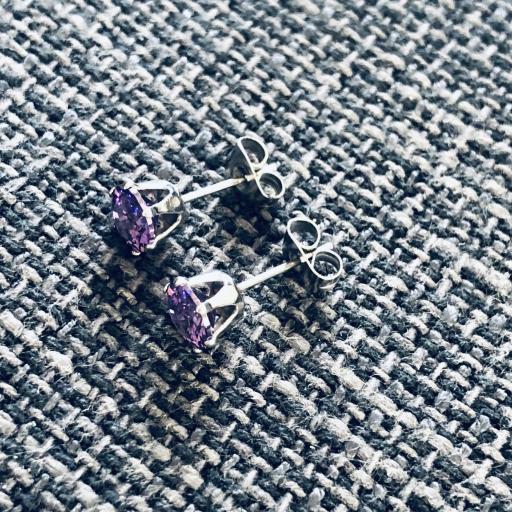 Pendientes de botón con cristal violeta engarzado [1]