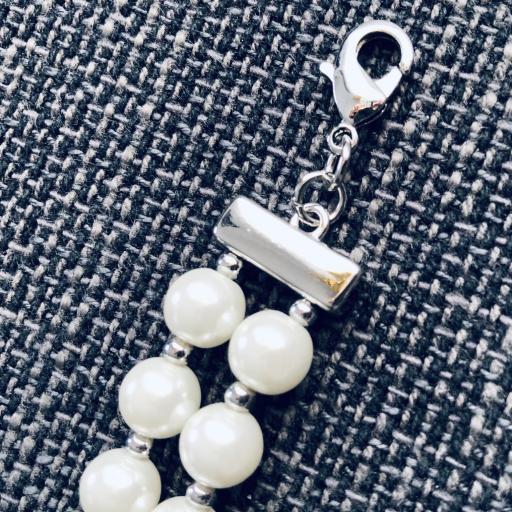 Pulsera de perlas de coral con piedra verde [2]