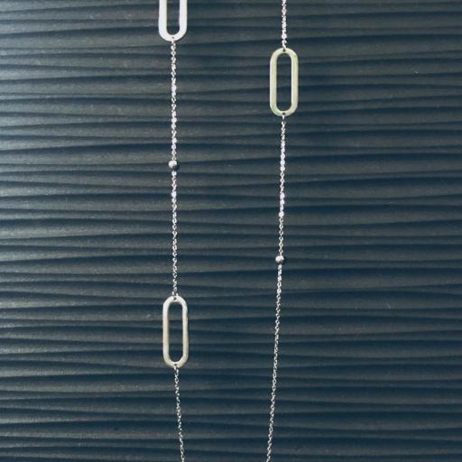 Collar de acero con cadena y eslabones  [3]