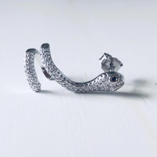 Pendientes trepadores  de serpiente con circonitas [2]