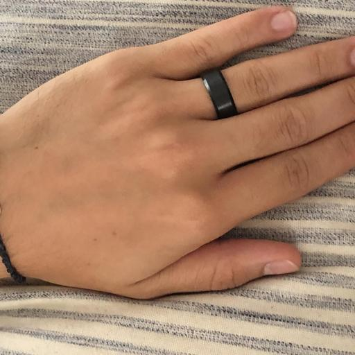 Anillo de acero negro unisex [2]