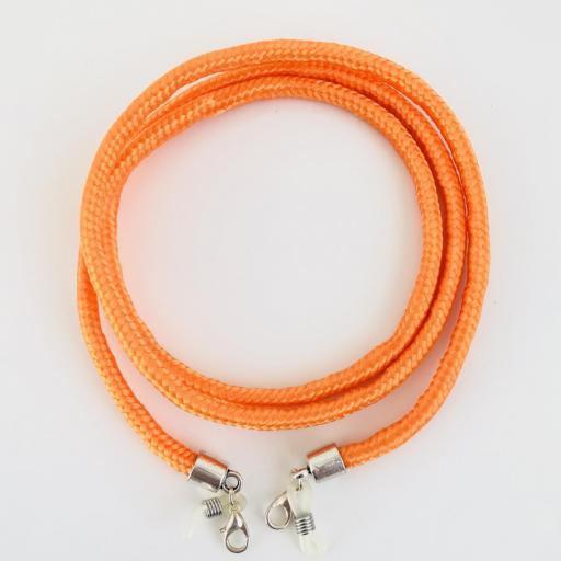 Cordón cuelga gafas o mascarilla  color naranja