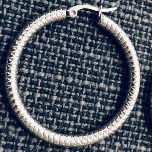 Aros de acero texturados plateados 4,5 cm [2]