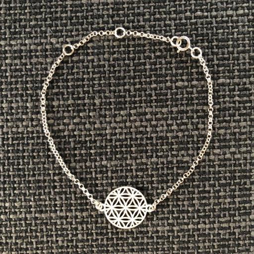 Pulsera de plata flor de la vida [1]