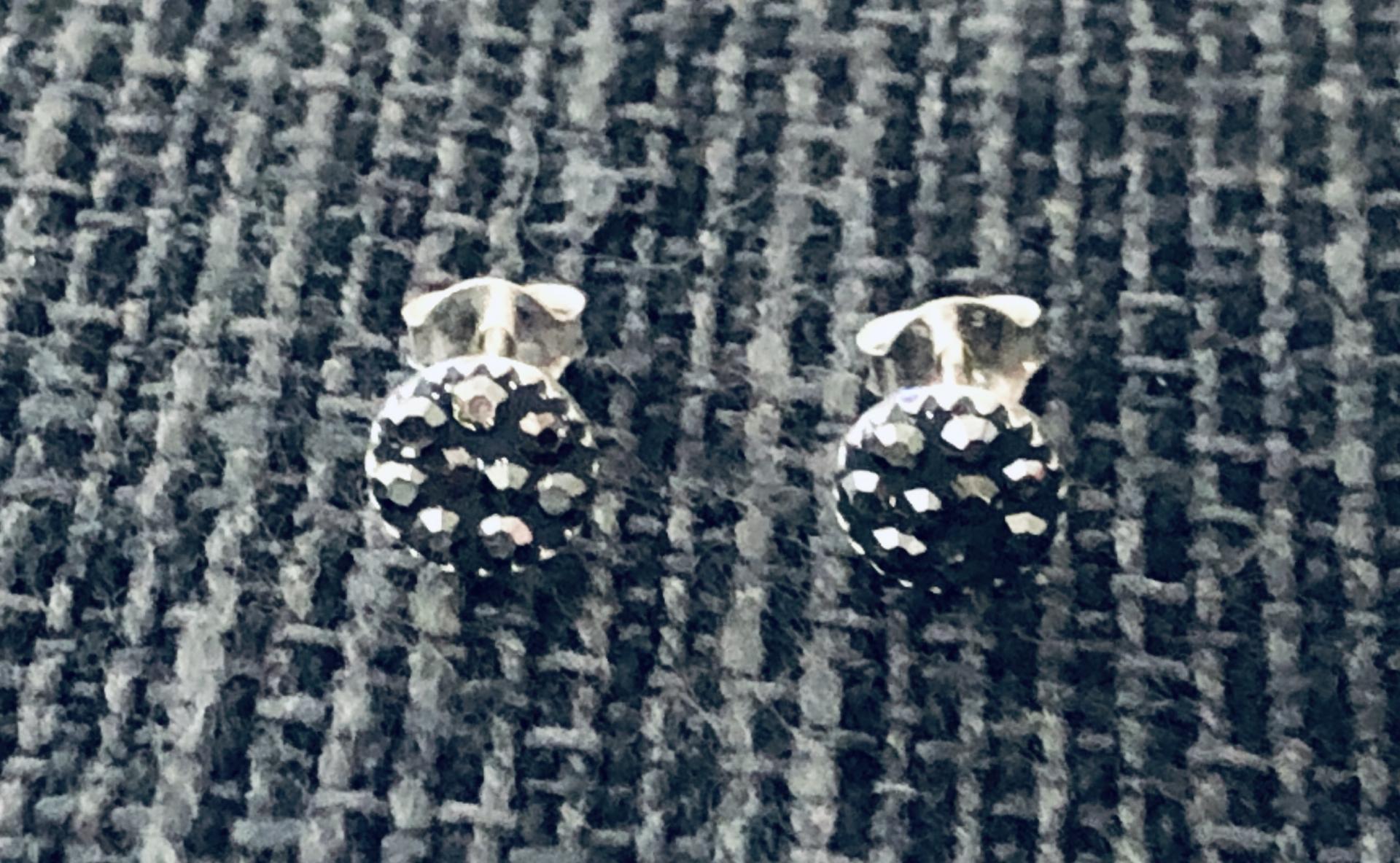 Pendientes de plata envejecida con cristales