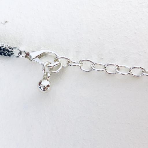 Collar fantasía cadenas azul turquesa [3]