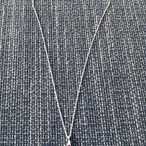 Colgante rayo plateado con cristales de colore y cadena [3]