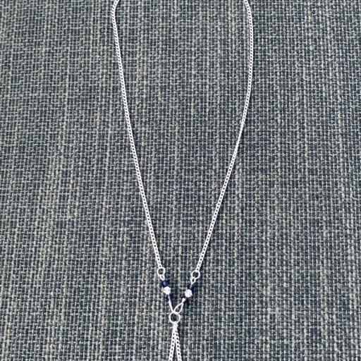 Collar de acero y cristales Swarovski  en color morado y cobre [2]